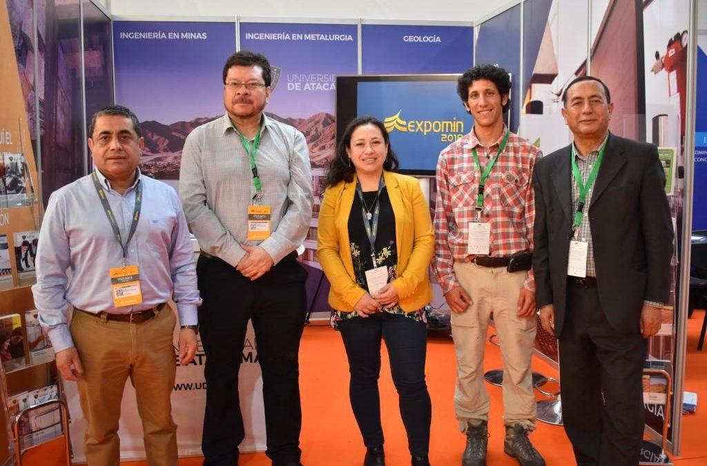 ¿Qué proyectos de investigación presentó la Universidad de Atacama en la EXPOMIN?